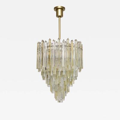 Paolo Venini Mid century Murano chandelier Trilobo by Venini