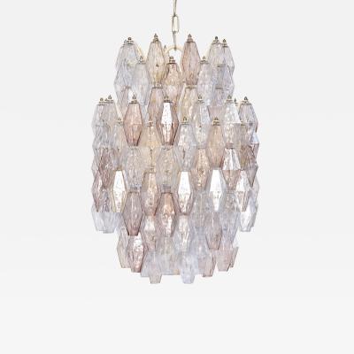 Paolo Venini Mid century Murano chandelier by Carlo Scarpa for Venini