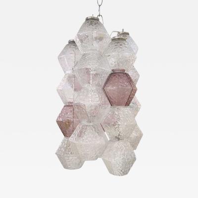 Paolo Venini Venini Polyhedral Glass Chandelier