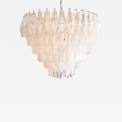 Paolo Venini Venini Polyhedral Murano Glass Mid Century Chandelier