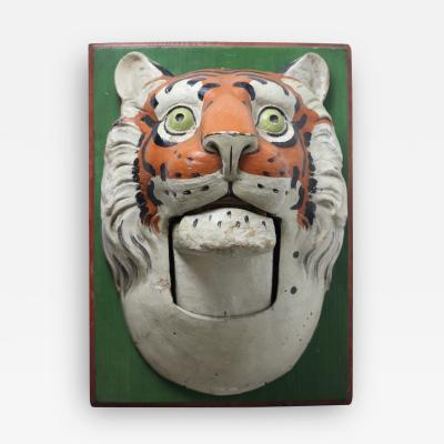 Paper Mache circus tiger wall mask 1890 Germany