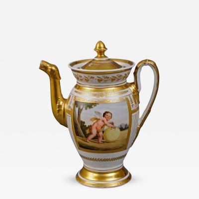 Paris Porcelain Coffee Pot Circa 1810