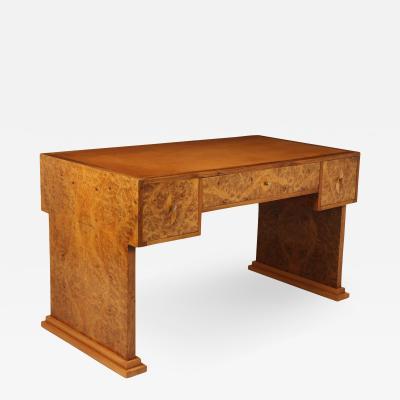 Parisian Art Deco Desk in Burr Maple C1925