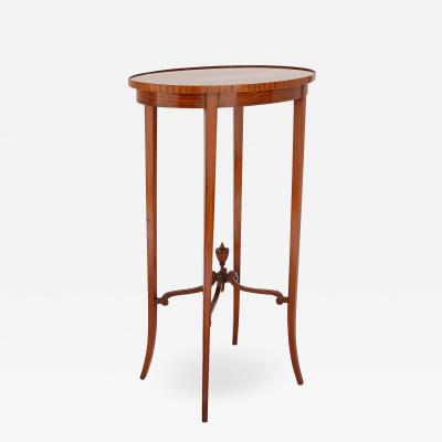 Parquetry circular side table