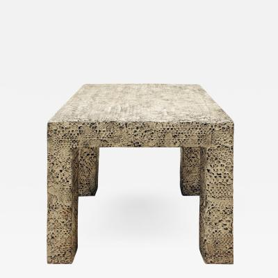 Parsons Style Occasional Table in Python Resin 1970s