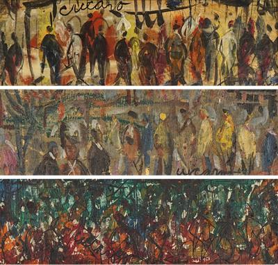 Pascal Cucaro People People triptych