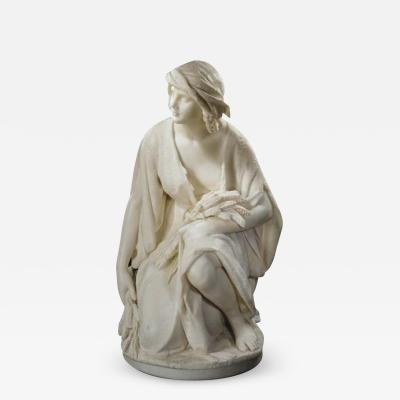 Pasquale Romanelli Romanelli An Italian Marble Figure of Ruth Gleaning