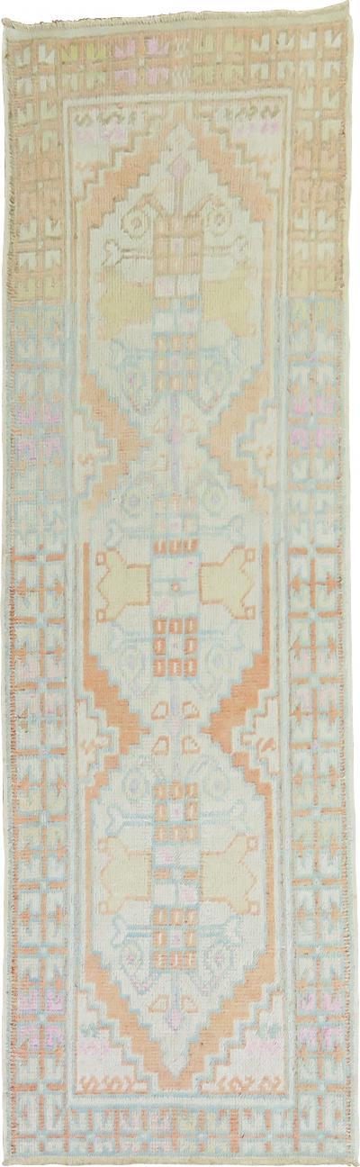 Pastel Turkish Anatolian Runner rug no 31422