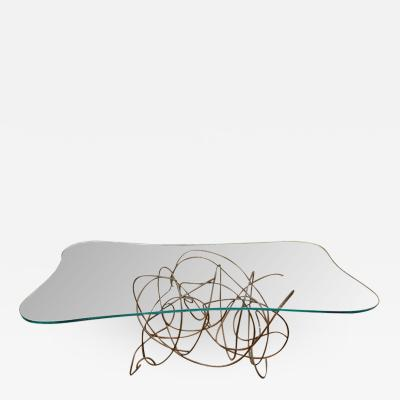 Patricia Larsen Freeform Metal Dining Console Table by Artist Patricia Larsen