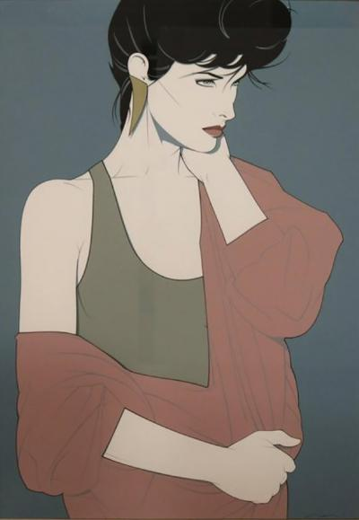 Patrick Nagel Framed Silkscreen by Patrick Nagel