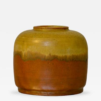Patrick Nordstrom Brown and Gold Vase by Patrick Nordstrom for Royal Copenhagen