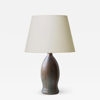 Patrick Nordstrom Exquisite Table Lamp with Flowing Layered Glazes by Patrick Nordstr m