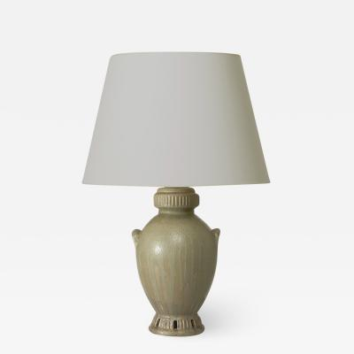 Patrick Nordstrom Monumental Table Lamp with Exotic Urn Form by Patrick Nordstr m