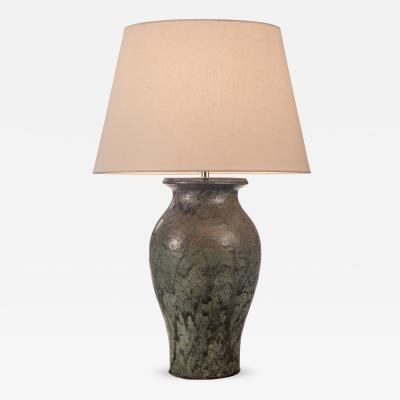 Patrick Nordstrom Patrick Nordstr m for Royal Copenhagen Unique Large Stoneware Vase now a Lamp
