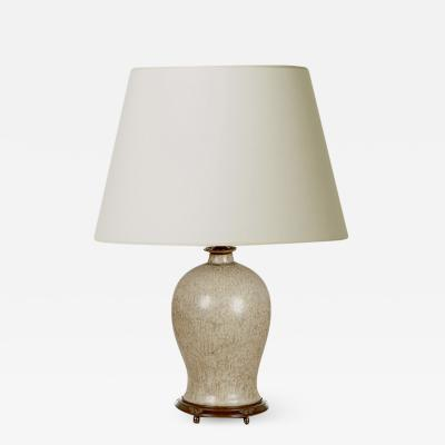 Patrick Nordstrom Table Lamps with Masterful Dappled Gray Glazing by Patrick Nordstr m