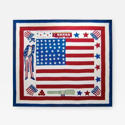 Patriotic Quilt Commemorating the Signing of the Armistice of WWI