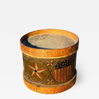 Patriotic Tin Wood Drum