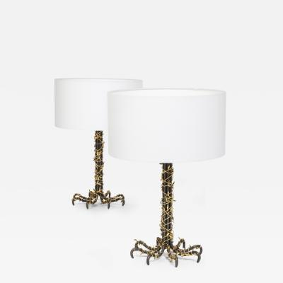 Paul Belvoir Pair of table lamps