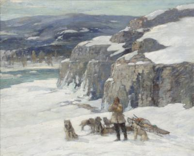 Paul Bernard King Oil on Canvas Landscape by Paul King