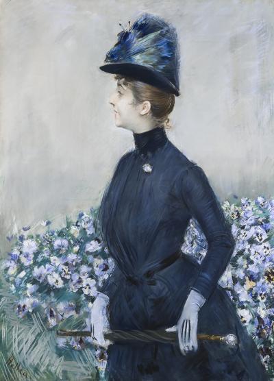 Paul C sar Helleu La Femme Aux Fleurs Portrait of Mathilde See