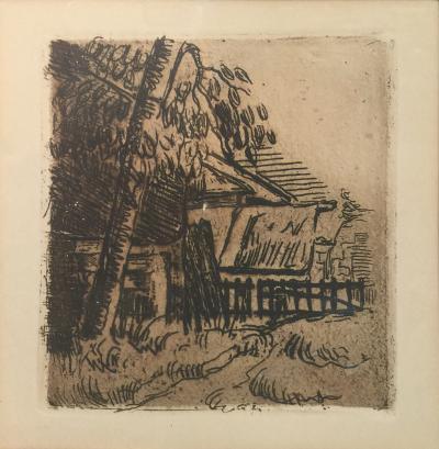 Paul C zanne Paul Cezanne House in Auvers Etching