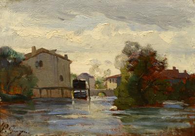 Paul Camille Guigou Mill Along the River