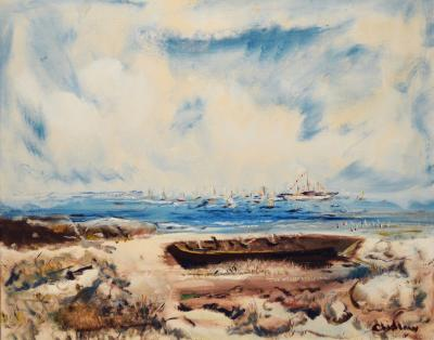 Paul Chidlaw Boats on the Beach