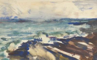 Paul Chidlaw Waves Along the Shore