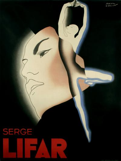Paul Colin Serge Lifar French Art Deco Period Dance Poster by Paul Colin 1935