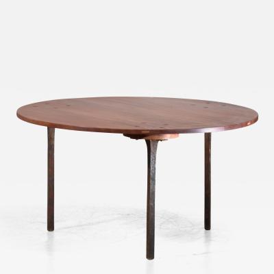 Paul Dierkes Sculptural Coffee Table by Paul Dierkes with Bronze Legs Germany 1950s