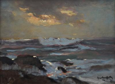 Paul Dougherty Moonlit Surf