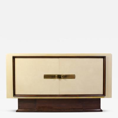 Paul Dupr Lafon Art Deco Vellum Mahogany Sideboard Attributed to Paul Dupr Lafon