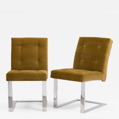 Paul Evans A Rare Pair of Paul Evans Velvet Upholstered Chairs 1977