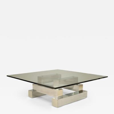 Paul Evans American Post War Design Aluminum Brass Coffee Table