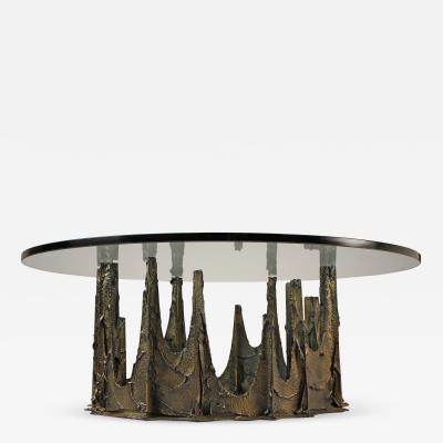 Paul Evans BRONZE STALAGMITE COFFEE TABLE DESIGNED BY PAUL EVANS