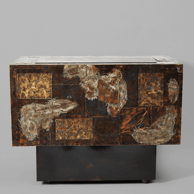 Paul Evans Bronze Copper and Pewter Patchwork Cabinet Paul Evans USA c 1970 s