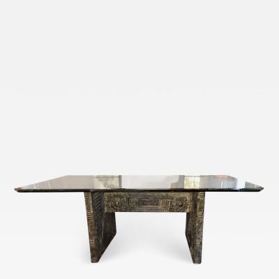 Paul Evans Brutalist Dining Table in the Style of Paul Evans