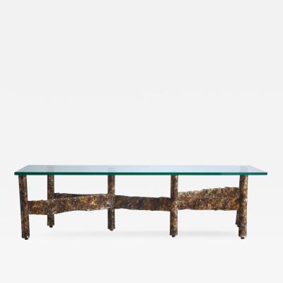 Paul Evans Brutalist Metal Coffee Table