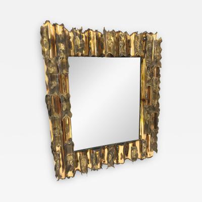 Paul Evans Brutalist Mirror