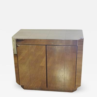 Paul Evans Chromed steel cabinet by Paul EVANS circa 1970