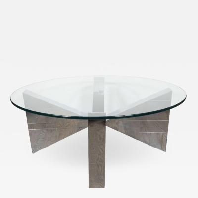 Paul Evans Cityscape Cocktail Table in Patchwork Polished Chrome Documented by Paul Evans