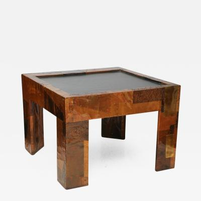 Paul Evans Mixed Metals Patchwork Series and Vermont Slate Top Table Paul Evans