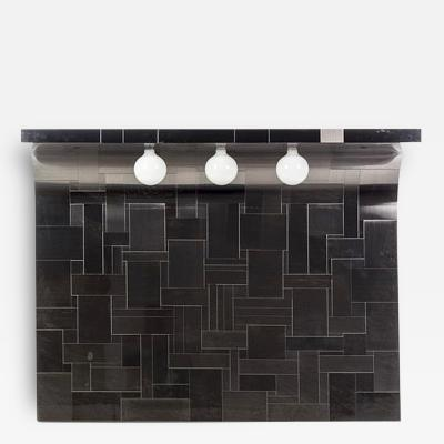 Paul Evans One of the Pair Cityscape Headboard with Lights Paul Evans for Directional