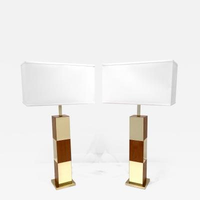 PAIR OF CITYSCAPE TABLE LAMPS