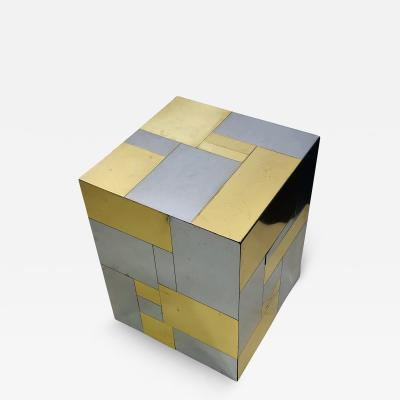 Paul Evans PAUL EVANS TWO TONE CUBE TABLE