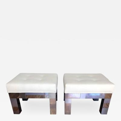 Paul Evans Pair of Cityscape Benches by Paul Evans for Directional
