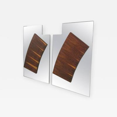 Paul Evans Pair of Large Rosewood Mirrors in the Style of Paul Evans for Directional