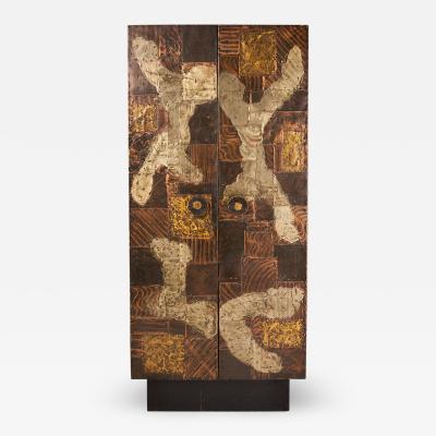 Paul Evans Patchwork Cabinet by Paul Evans
