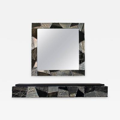Paul Evans Paul Evans Argente Mirror and Console