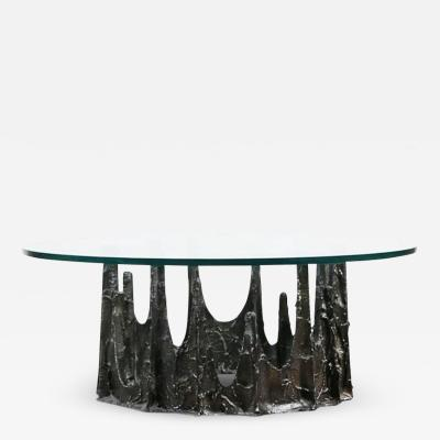 Paul Evans Paul Evans Brutalist Sculpted Bronze Stalagmite Table Signed and Dated 1970